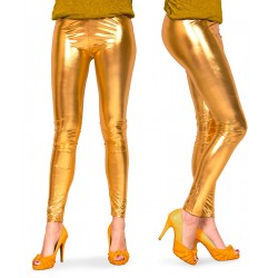 Legging metallic goud