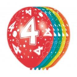 Ballonnen met cijfer 4