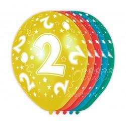 Ballonnen met cijfer 2