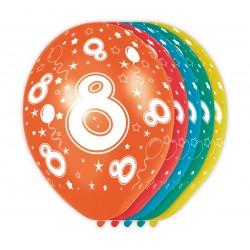 Ballonnen met cijfer 8