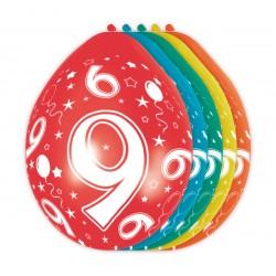 Ballonnen met cijfer 9