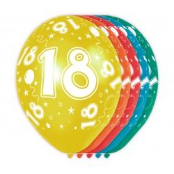 Ballonnen met cijfer 18