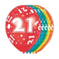 Ballonnen met cijfer 21