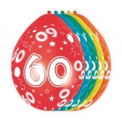 Ballonnen met cijfer 60