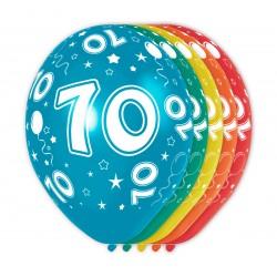 Ballonnen met cijfer 70