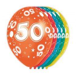 Ballonnen met cijfer 50