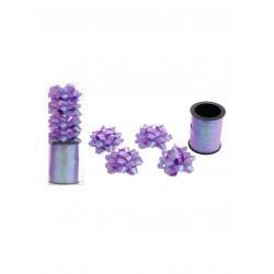 Cadeau lint met strikjes paars