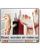 Bloed wonden en make-up