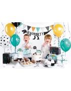 Versiering voor een kinderverjaardag met diverse thema's